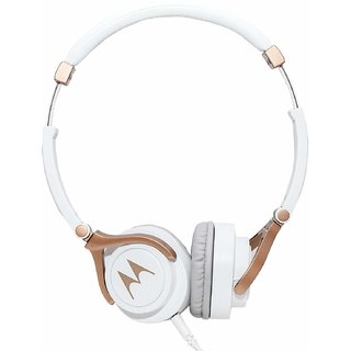 Motorola Pulse 3 Headphones White Gold Color