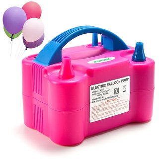 EREIN Portable Dual Nozzle Electric Balloon 600W 110V Balloon Blower Air Pump Inflator for Decoration