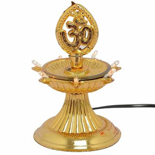 DIWALI New Electric Gold Bulb Lights Diya/Deep/Deepak for Pooja/Puja/Mandir Diwali Festival Decoration (1 Layer)