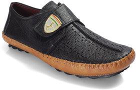 Niti Fashion Men Leather Casual  Black Slip On Sandal