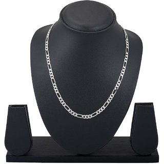 Sparkling Silver Sachine Chain for Men (24inch) by Sparkling Jewellery