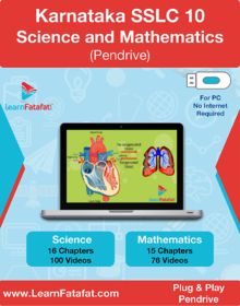 Karnataka SSLC Class 10 Science and Mathematics E-learning Video Course Pendrive