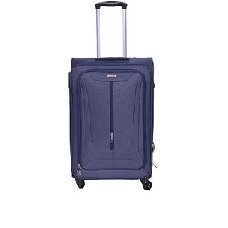 cd784756b882 Times Bags Trolley Bag 2TB4W24 Stylish Polyester Expandable Cabin Luggage -  24 inch (Blue)