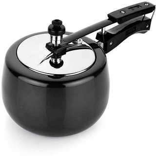 HEAVY GAUGE HARD ANODISED  PRESSURE APPLE SHAPE COOKER 3.0 LTR