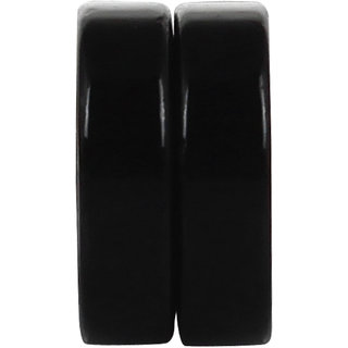 Black 8MM Round MAGNETIC (NO PEARCING) Stud Earrings 1 Pair. For Mens/Boys/Guys/Gents