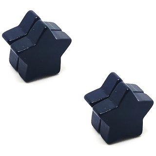 Black Star MAGNETIC (NO PEARCING) Stud Earrings 1 Pair. For Mens/Boys/Guys/Gents