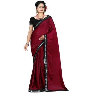 Priyansh creation Maroon coloured saree