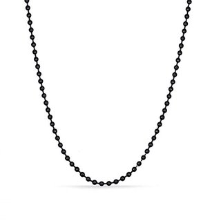 GoldNera Stainless Steel Black Plated Mens thin Ball Chain Long 24 Inches Dude Style Yo Yo Men/Guys/Boys/Gents