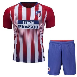 c9fc3065590 Atletico Madrid Football Team Red and White Half Sleeve Polyester Dry Fit  Jersey