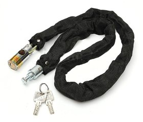 Motorcycle Bike Bicycle High QUALITY HELMET Lock  Chain Lock 80cm w/ 2 Key..