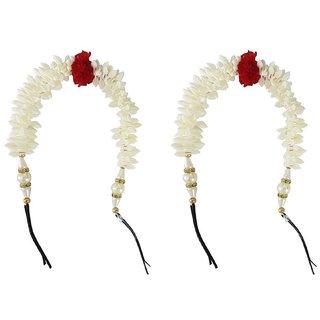 Gulzar  New Style Juda Maker Gajra (Veni) For Women Wedding Combo Hair Accessories For Girls And Women, White