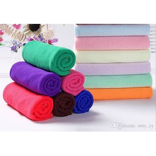 LUXURY  Pure Cotton So Sweet Colored  Ultra Softness Riched  - Handkerchief For Girls, Ladies Women  Kids - Spl. 7 Pcs