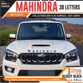CarMetics Mahindra 3d Letters 3d stickers for Mahindra Bolero emblem logo  Badge decal Mahindra car accessories Black