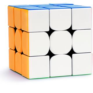 kiddie corner Magic Speed Rubik Cube 3x3x3 Sticker Less, Water Proof