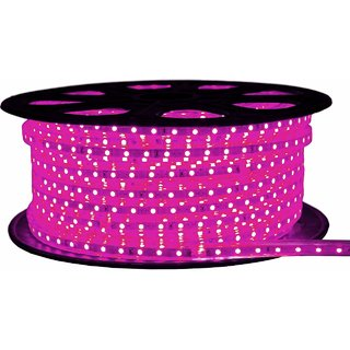 Ever Forever Waterproof Flexible SMD LED Strip Light/Rope Light Pink with Adaptor (10 Meter)