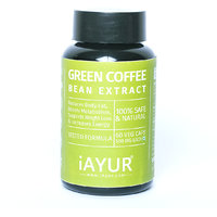 iAYUR Green Coffee Bean (50% CGA)   Tested & Certified 100% Potent, Natural, Pure & Safe - Weight Loss Formula - 500 Mg 60 Veg Caps