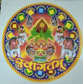 Rangoli Multicolor Floor Stickers