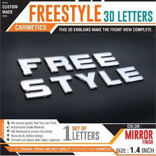 CarMetics FreeStyle 3d Letters 3d stickers for Ford Freestyle emblem logo  car accessories Mirror Finish