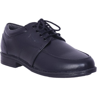 Black Leather School Shoes by IRNADO