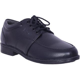 Black Leather School Shoes by IRNADO
