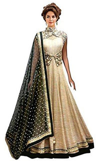 Florence Women's Beige Bangalore silk Gown(LG014)