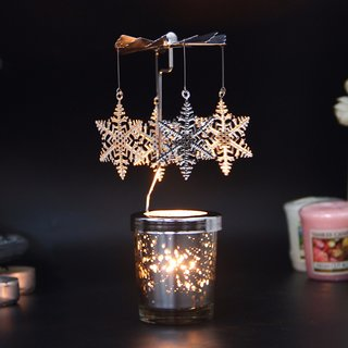 Decorative Spinning Candlestick Tealight Candle Holder  for  Diwali / Christmas / Wedding   Home Party (1 Pcs Only)
