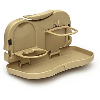 Automobile Car Meal Plate Drink Cup Holder Tray.