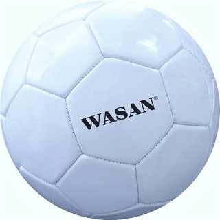 Wasan Soccer Football White Size 5 -12 Years and Above Age Groups