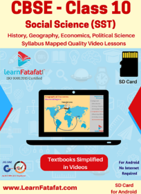 CBSE Class 10 Social Science Complete Video Course SD Card  LearnFatafat