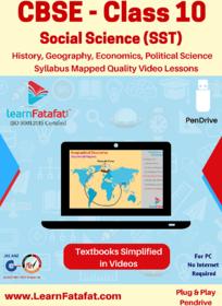 CBSE Class 10 Social Science Complete Video Course Pendrive  LearnFatafat