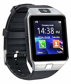 DZ09  Silver Touch Screen Bluetooth Mobile Phone Wrist Watch With Camera/Sim