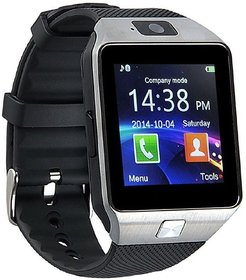 Liddu DZ09 Silver & Black Touch Screen Bluetooth Mobile Phone Wrist Watch With Camera/Sim