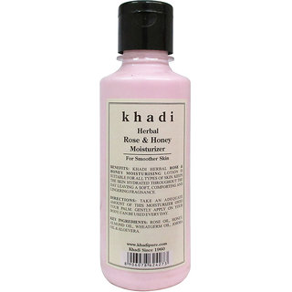 Khadi Herbal Rose  Honey Moisturizer - 210ml
