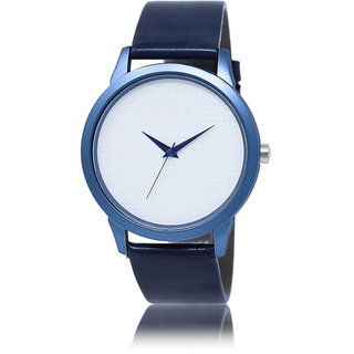 Katrodiya Round Dail Blue Leather StrapMens Quartz Watch For Men