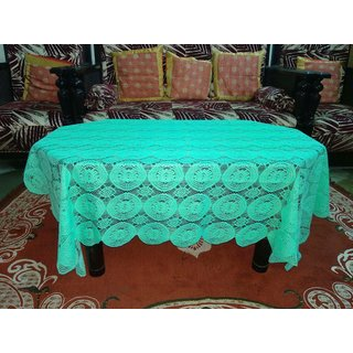 Center Table Cover  4 Seater Geometric Design ( Size  60 inch ( 152.4 cm ) x40 inch ( 101.6 cm ) Green Color By AH