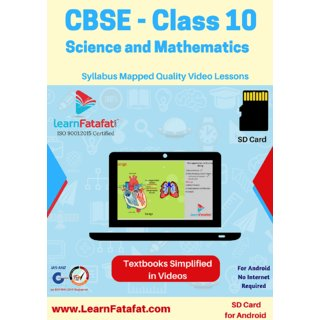 CBSE Class 10 Science and Mathematics Learning Video Course SD Card  LearnFatafat