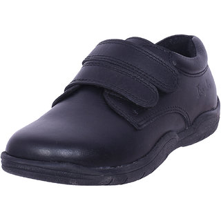 Black leather school shoes by IRNADO for girls