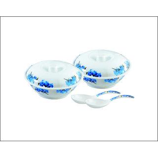 Ae maharani elegant donga set 6 pcs donga 2+donga cover +2 serving spoon 2