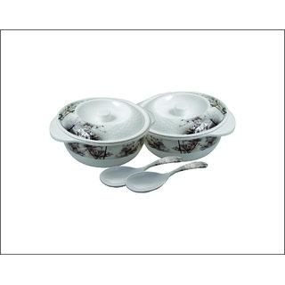 Ae maharani lotus donga set 6 pcs donga 2+donga cover2+serving spoon 2