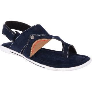 Lee Peeter Men's Blue Valcro Sandals
