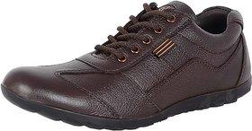 Lee Peeter Men's Leather Brown Casual Shoe