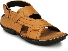 Lee Peeter Men's Tan Velcro Sandals