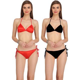 0778d1075b067 Buy Arousy Womens Stretchy Satin Sexy Bra Panty Set