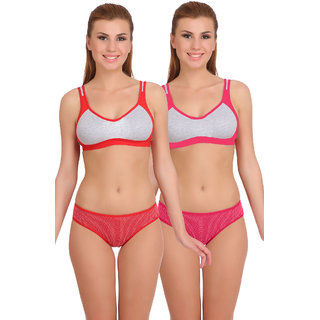 78aa3c75c7 Buy Arousy Womens Cotton Sports Bra Panty Set
