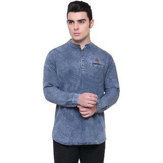 3f0a1eb7614 Buy KACLFS1270 - Kuons Avenue Grey Denim Full Sleeve Short Kurta For ...