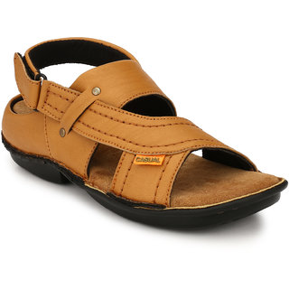 Lee Peeter Men's Tan Velcro Sandals