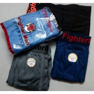 (Pack of 10)Fighter Man Cotton Briefs with Outerelasitc Attractive Style