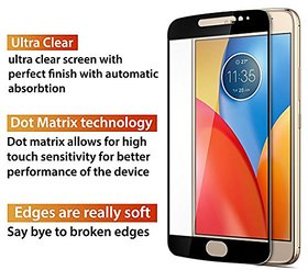 5D 9H Curved Bubble Free Anti Scratch High Clarity Tempered Glass Shatter Proof Color Full Screen Glue Cover for Moto E4 Plus - Black