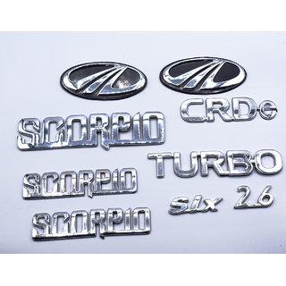 Mahindra Scorpio CRDe  Turbo Monogram logo emblem Kit