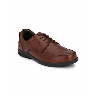 Banish Men's Tan Genuine Leathe Derby Formal Shoes